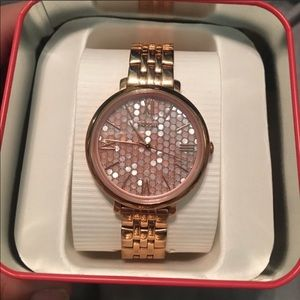 Rose Gold Fossil Watch practically brand new